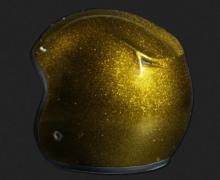CASQUE OPEN FACE METAL FLAKE GOLD