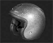 CASQUE OPEN FACE METAL FLAKE SILVER