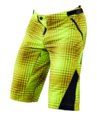 SHORT RUCKUS PLAID LIME GREEN