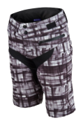 SHORT SKYLINE PLAID BLACK WOMEN