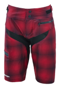 SHORT SKYLINE PLAID MAROON WOMEN