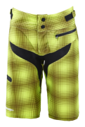 SHORT SKYLINE PLAID LIME GREEN WOMEN