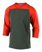 MAILLOT RUCKUS BLOCK ORANGE/GREEN
