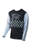 MAILLOT SUPER RETRO CHECK BLACK/WHITE