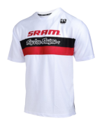 MAILLOT SKYLINE AIR SRAM TLD RACING WHITE