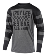MAILLOT SKYLINE L/S CHECKER HEATHER GRAY/BLACK