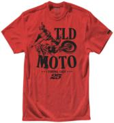TEE SHIRT TLD MOTO HTR RED YOUTH