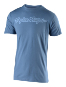 TEE-SHIRT SIGNATURE STEEL BLUE/LILAC