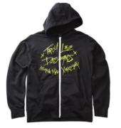 SWEAT CRASH ZIP UP BLK YOUTH