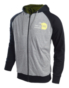 SWEAT DOUBLES ZIPHOOD CHARCOAL YOUTH