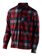 CHEMISE GRIND FLANNEL PLAID RED