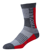 CHAUSSETTES PERFORMANCE CREW BLOCK FIERY RED