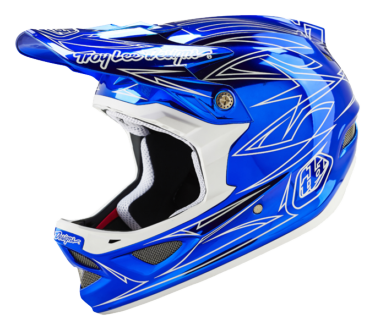CASQUE D3 COMPOSITE PINSTRIPE 2 BLUE CHROME