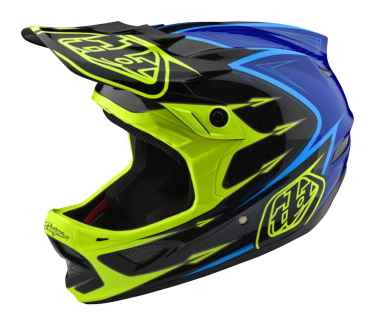 Photo de CASQUE D3 COMPOSITE CORONA FLO YELLOW/BLUE