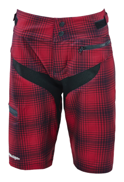 Photo de SHORT SKYLINE PLAID MAROON WOMEN