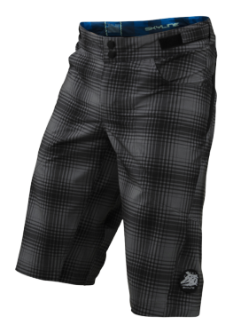 SHORT SKYLINE PLAID GRAY YOUTH