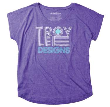TEE SHIRT LINEAR DOLMAN PURPLE WOMEN