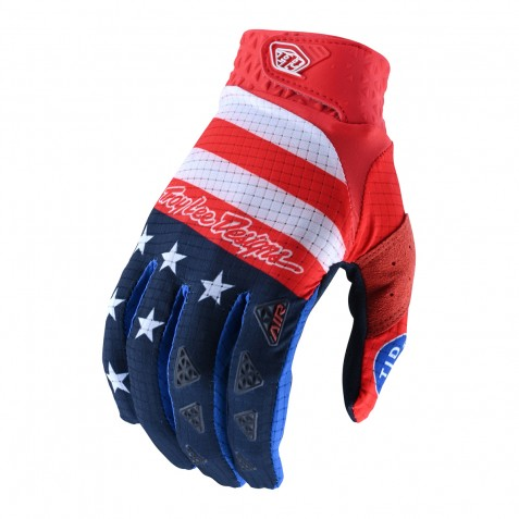 GANTS AIR STAR & STRIPES RED/BLUE