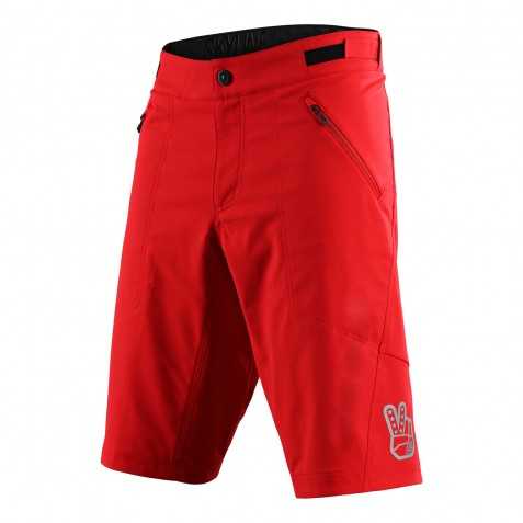 SHORT SKYLINE SOLID RED AVEC S/SHORT