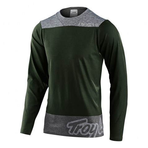 MAILLOT SKYLINE LS CHILL LONDON OLIVE/GRAY