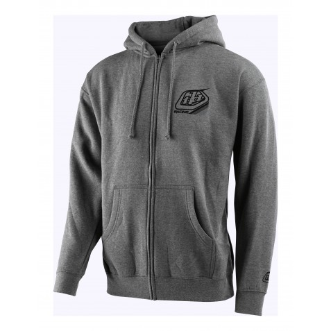 SWEAT MIX ZIP UP GUNMETAL HEATHER