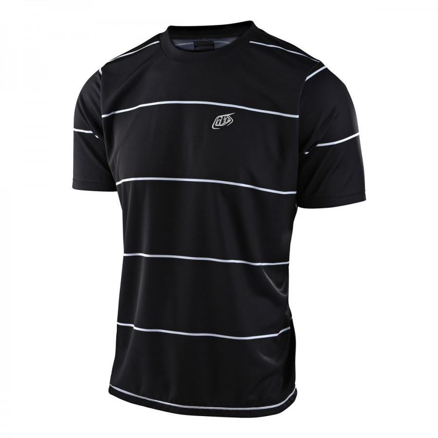 MAILLOT FLOWLINE SS STACKED BLACK