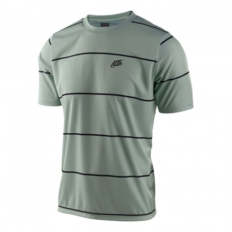 MAILLOT FLOWLINE SS STACKED SMOKE GREEN