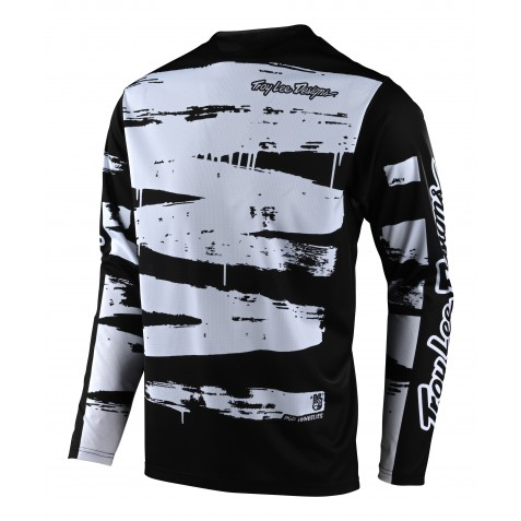 MAILLOT SPRINT BRUSHED BLACK/WHITE YOUTH