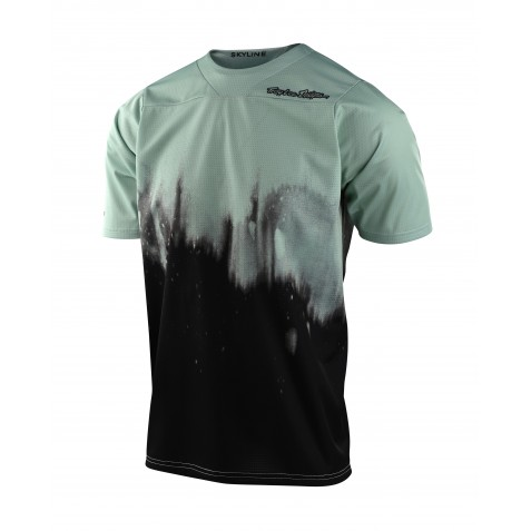 MAILLOT SKYLINE SS DIFFUZE SMOKE GREEN/BLACK YOUTH