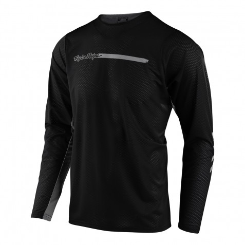 MAILLOT SKYLINE AIR LS CHANNEL BLACK