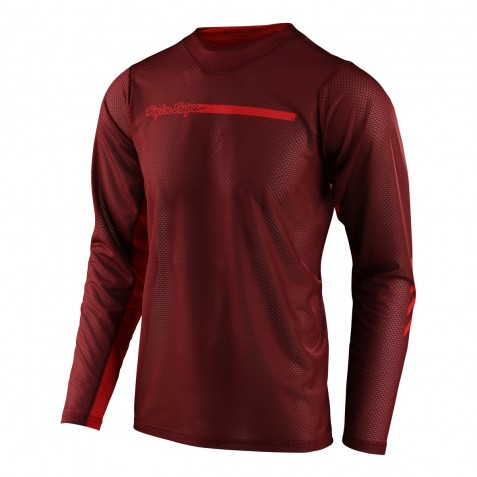 MAILLOT SKYLINE AIR LS CHANNEL BRICK