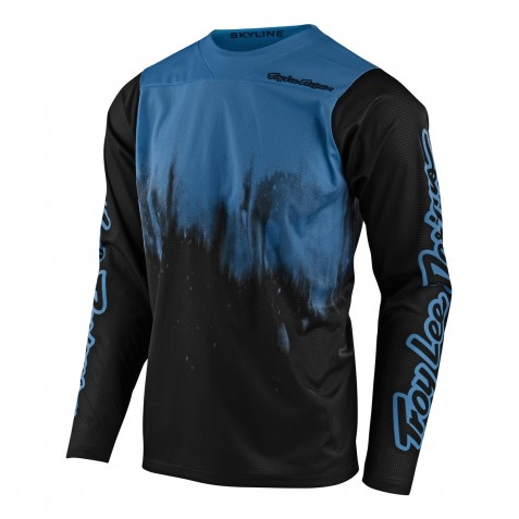 MAILLOT SKYLINE LS DIFFUZE BLUE BIRD/BLACK