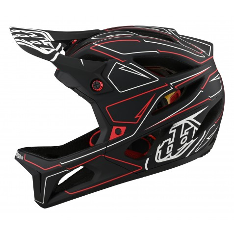 CASQUE STAGE PINSTRIPE BLACK/RED