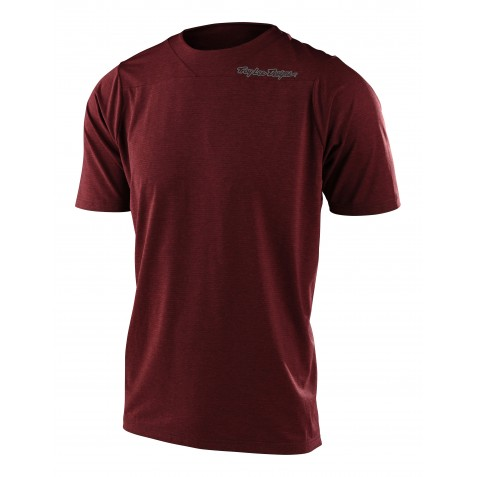 MAILLOT SKYLINE SS SOLID HEATHER BRICK