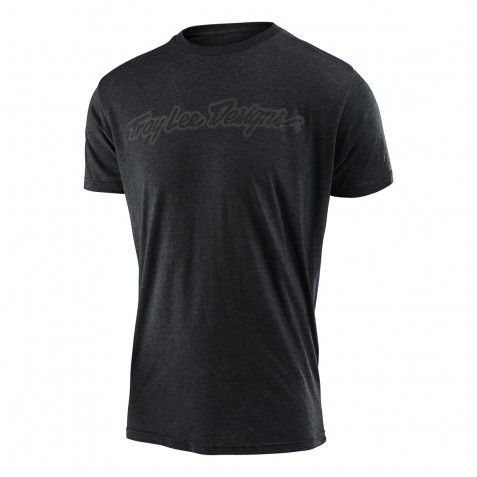 TEE SHIRT SIGNATURE CHARCOAL HEATHER
