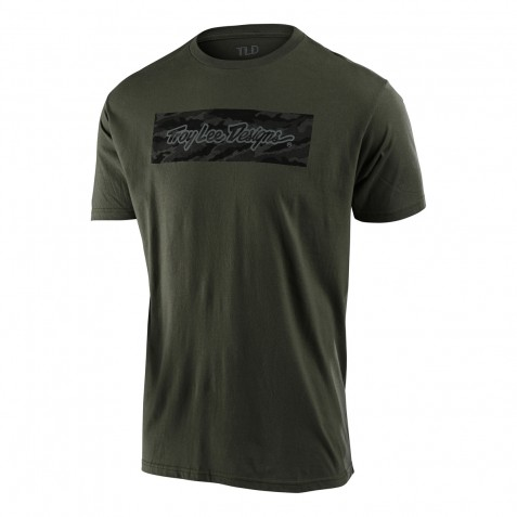 TEE SHIRT SIGNATURE BLOCK CAMO SURPLUS GREEN