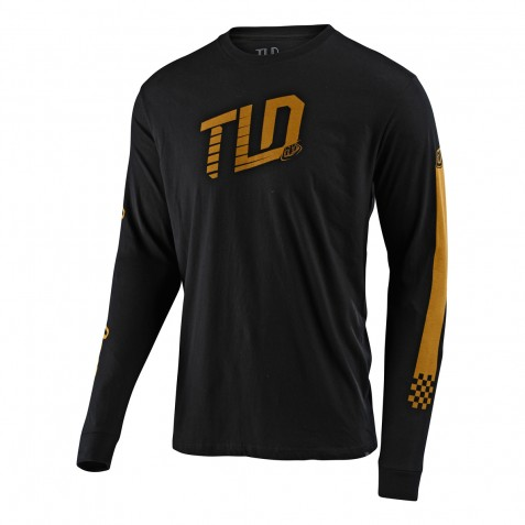 TEE SHIRT LS TRACKSIDE BLACK