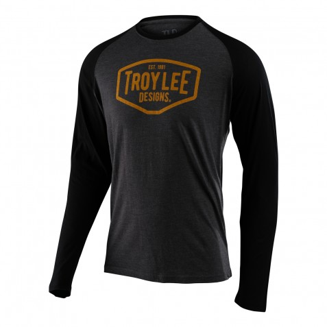 TEE SHIRT LS MOTOR OIL CHARCOAL/BLACK