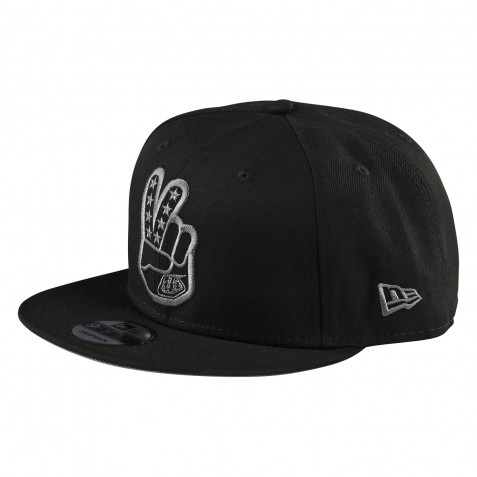 CASQUETTE PEACE SIGN BLACK